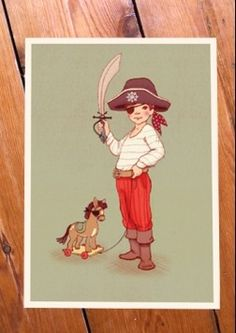 #jongenskamer Belle & Boo Kaart Ahoy There | Petite Louise