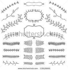 elegant design elements, can be used as a page decoration by khandisha, via ShutterStock