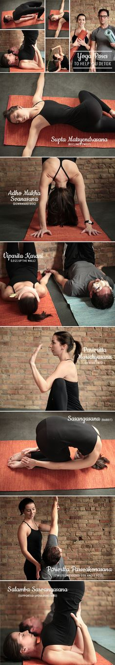 8 Yoga Poses to Help You Detox! Don't know if its true but I'm sure it'll stretch you well