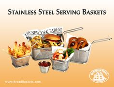Check out our amazing serving fry baskets, great for serving anything and everything. Check out the rest of our items at www.breadbaskets.com!