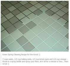 Simple way to clean Grout