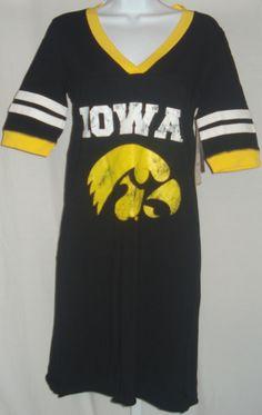 Iowa Hawkeyes Ladies Short Sleeve Dress Black