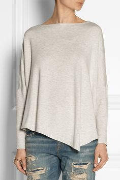 Helmut Lang | Asymmetric fleece top | NET-A-PORTER.COM
