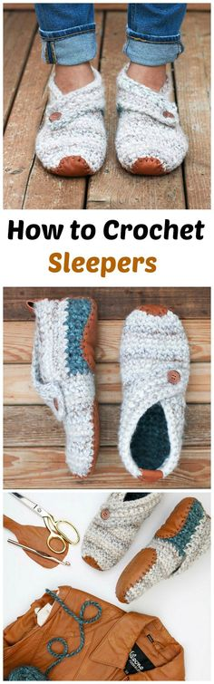 Crochet Stylish Slippers - Pretty Ideas
