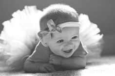 Baby tutu photography. 3 months old.