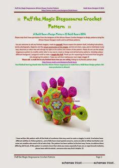 Heidi Bears - Puff the Magic Stegosaurus (c) - gurumi var - Picasa Web Albums