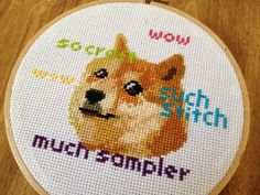 PATTERN Doge Meme Cross Stitch Instant Download by stephXstitch