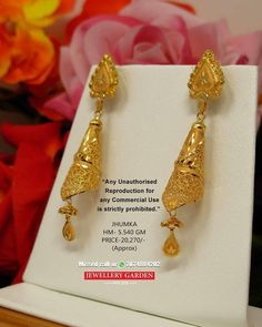 Gold Jewelry Buyers Near Me Gold Bangles Design, Gold Earrings Designs, Gold Jewellery Design, Bridal Jewellery, Real Gold Jewelry, Gold Jewelry Simple, Diamond Jewelry, Gold Jhumka Earrings, Indian Earrings