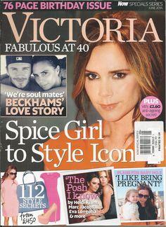 Victoria Beckham magazine Spice Girls David Style secrets Celebrity friends