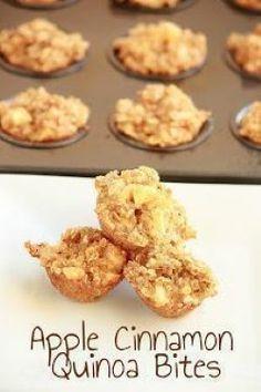 Apple Cinnamon Quinoa Bites Breakfast or Snack