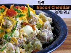 Bacon Cheddar Potato Salad!  (Serve Warm or Cold!)