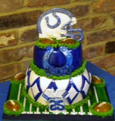 colts birthday cakes | ... Colts fan. The cake is chocolate with vanilla pudding, chocolate