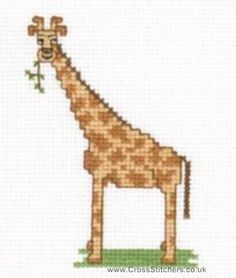 Giraffe Cross Stitch Pattern animals - www.Crosstitch.com - Cross