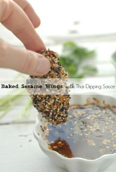 Baked Sesame Wings with Thai Dipping Sauce | Boulder Locavore