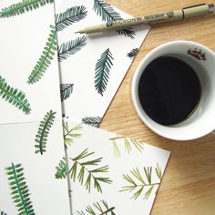 Free Printable Evergreen Patterned Paper