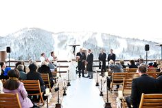 So Beautiful. I have always dreamed of a winter wedding at a ski lodge with snowy mountains.