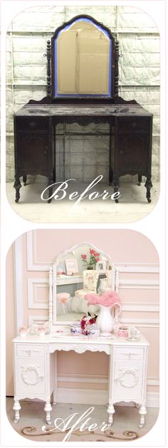 Antique Dresser - Before and After - thebellacottage.blogspot.com