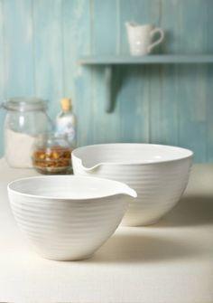 White Ceramic Mixing Bowl - Large - China Sophie Conran china makes me swoon!