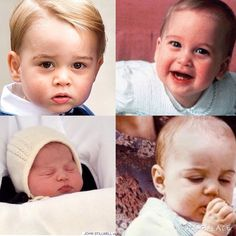 George and William, Charlotte and Kate- all such cute babies!