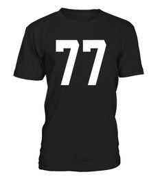 77 Sports Number TShirt for Team Fan My Favorite Player 77 (*Partner Link)
