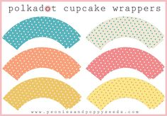 Peonies and Poppyseeds: polkadot cupcake wrappers