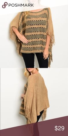 Striped Crochet Front Poncho Made from 100% acrylic and super cute! 😍 Price Firm, and no Trades. Bundle 3+ from me and save 15%, only pay shipping ONCE, and get a FREE gift! Other