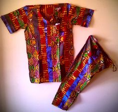 NABY Patchwork (Baye Fall) Pant Set by soumahstore on Etsy