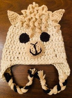 ff14f62e Curly Haired Llama Crochet Hat- Free Pattern – CrochetandCraftwithMe.Com  Crochet Hats For Boys