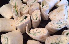 Vegetarische wraps met roomkaas en rucola
