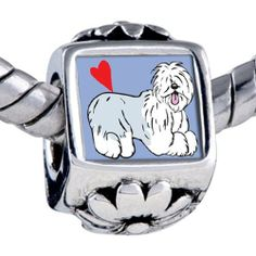 Pugster Bead Old English Sheepdog Animal Beads Fits Pandora Bracelet Pugster. $11.24. Unthreaded European story bracelet design. It's the photo on the flower charm. Bracelet sold separately. Hole size is approximately 4.8 to 5mm. Fit Pandora, Biagi, and Chamilia Charm Bead Bracelets