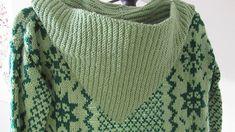Retro Long Green Hooded Cardigan. Bo Ho Cardigan. Art Ho Cardigan. 1990 Green Long Cardigan. Hooded Cardigan. Retro Green Patterned Cardigan