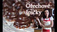 Ořechové špičky / Helenčino pečení Chocolate Fondue, Baking Recipes, Food And Drink, Pudding, Sweets, Cooking, Christmas Cakes, Advent, Tube