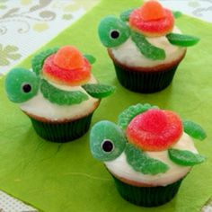 Turtle cupcakes.... This is for you CJ