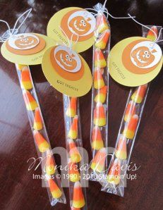 Easy Candy Corn Treat Bags for Halloween with Bag Ordering Information