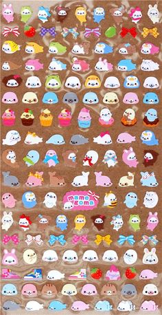 many small Mamegoma sticker San-X from Japan 2
