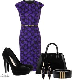 """""""Office Dress 6"""" by christa72 on Polyvore---lol, if i would actually look good in this then yeh..i'd wear it"""
