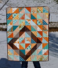 Baby Dylan's HST Quilt by mjandco, via Flickr
