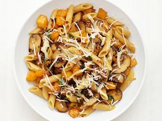 Penne with Butternut Squash Recipe : Food Network Kitchens : Food Network  //  What could I use instead of mushrooms?  j.