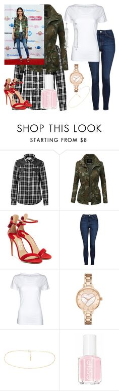 """Get The Look: Zendaya"" by qwertyuiop-sparta ❤ liked on Polyvore featuring Current/Elliott, LE3NO, Salvatore Ferragamo, Topshop, Simplex Apparel, Kate Spade and Essie"