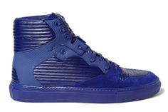 Balenciaga's Panelled Blue Leather High-Top for SS13