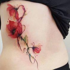Fantastic watercolor poppies by Jemka