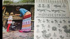 KLASSIKER: Begrepet hønsestrikk ble oppfunnet på 1970-tallet, og det kom flere bøker fulle av inspirasjon. Her fra «Hønsestrik 3». Foto: Ber...