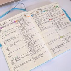 """Looking back at last week's weekly spread in my bullet journal to see what worked and what didn't. #bulletjournal #bujo #bulletjournaljunkies…"""