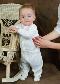 This is too cute! Want something like this for Declan's Christening Outfit.