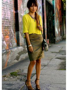 neon yellow sweater