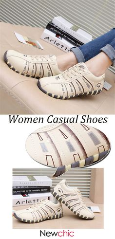 3a57049312c  US  18.84 Printing Trainers Lace Up Comfortable Sport Casual Shoes For  Women.