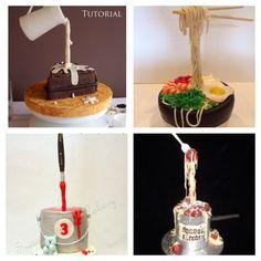Gravity defying cakes