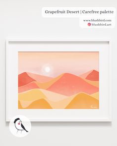BlushBird is an online store that sells affordable art, organized by color palettes and is available as prints, canvas, tote bags and pillows. Citrus, Palette, Affordable Art, Flocking, Graphic, Decoration, Deserts, Display, Canvas