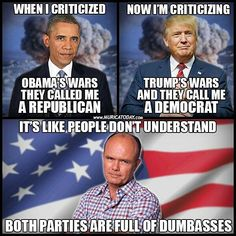 If you don't like people who criticize both political parties you're gonna have a bad time.
