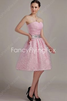 fancyflyingfox.com Offers High Quality Modern Sweetheart Neckline Ball Gown Knee Length Pink Sweet 16 Dresses ,Priced At Only US$189.00 (Free Shipping)